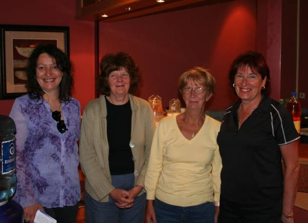 Winners of Ladies Teams Antoinette McGee (Drogheda), Celia Comrie, Mamie McCormac (Dublin) Rhona Goldenfield